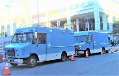PG&E Trucks at Courthouse
