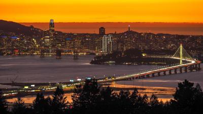 SF and Bay Bridge 0827