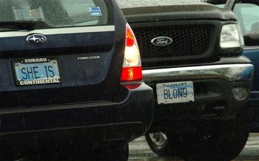 Alaska DMV panel censors vanity license plates