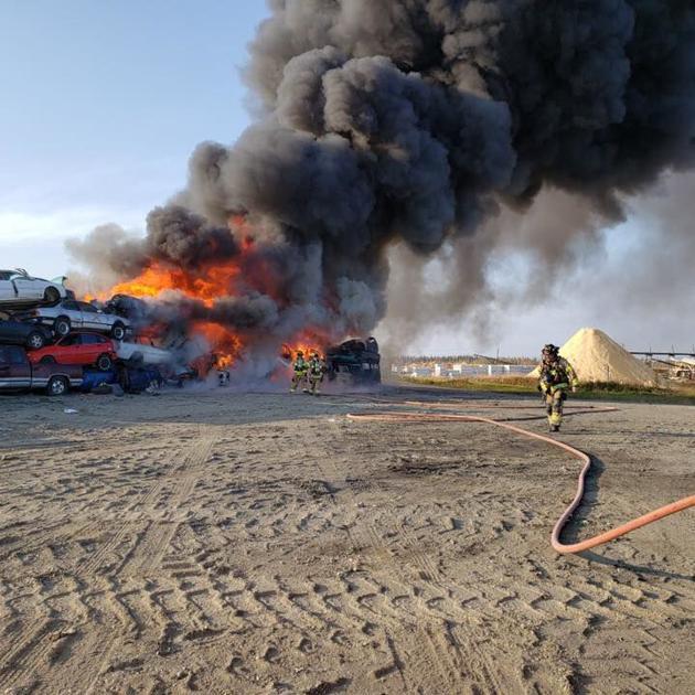 Crews battle fire at Fairbanks dump