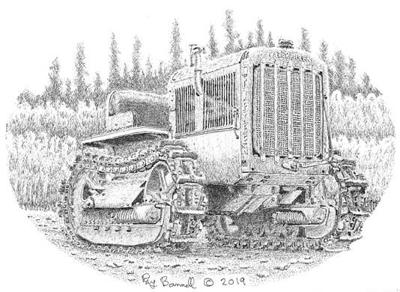 An old Manley tractor still putters along