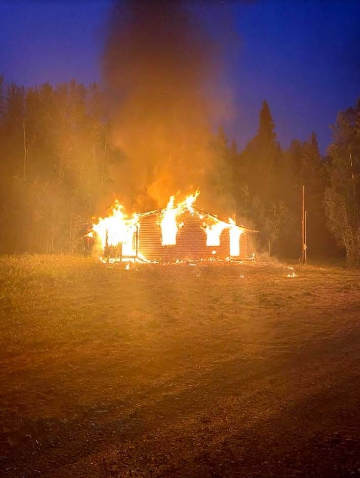 Grange Hall fire