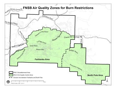 Air quality zone map