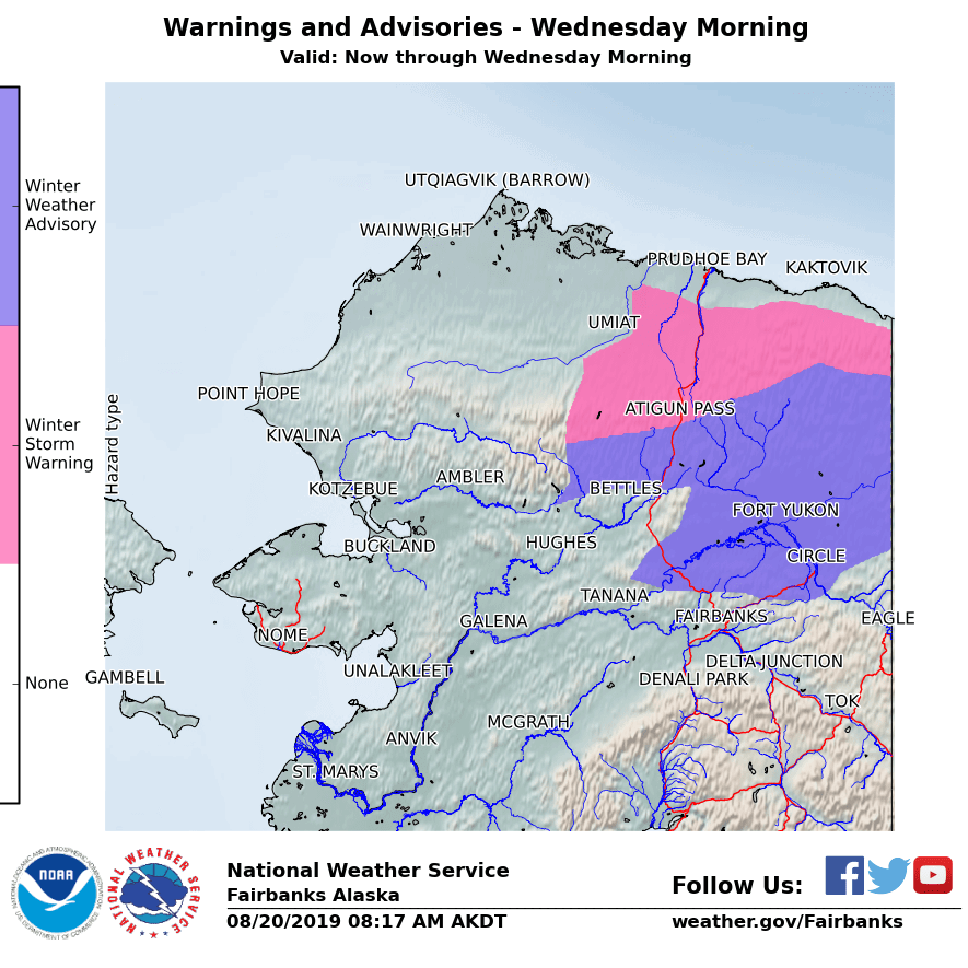 Here it comes: Snow advisory issued for eastern Interior Alaska