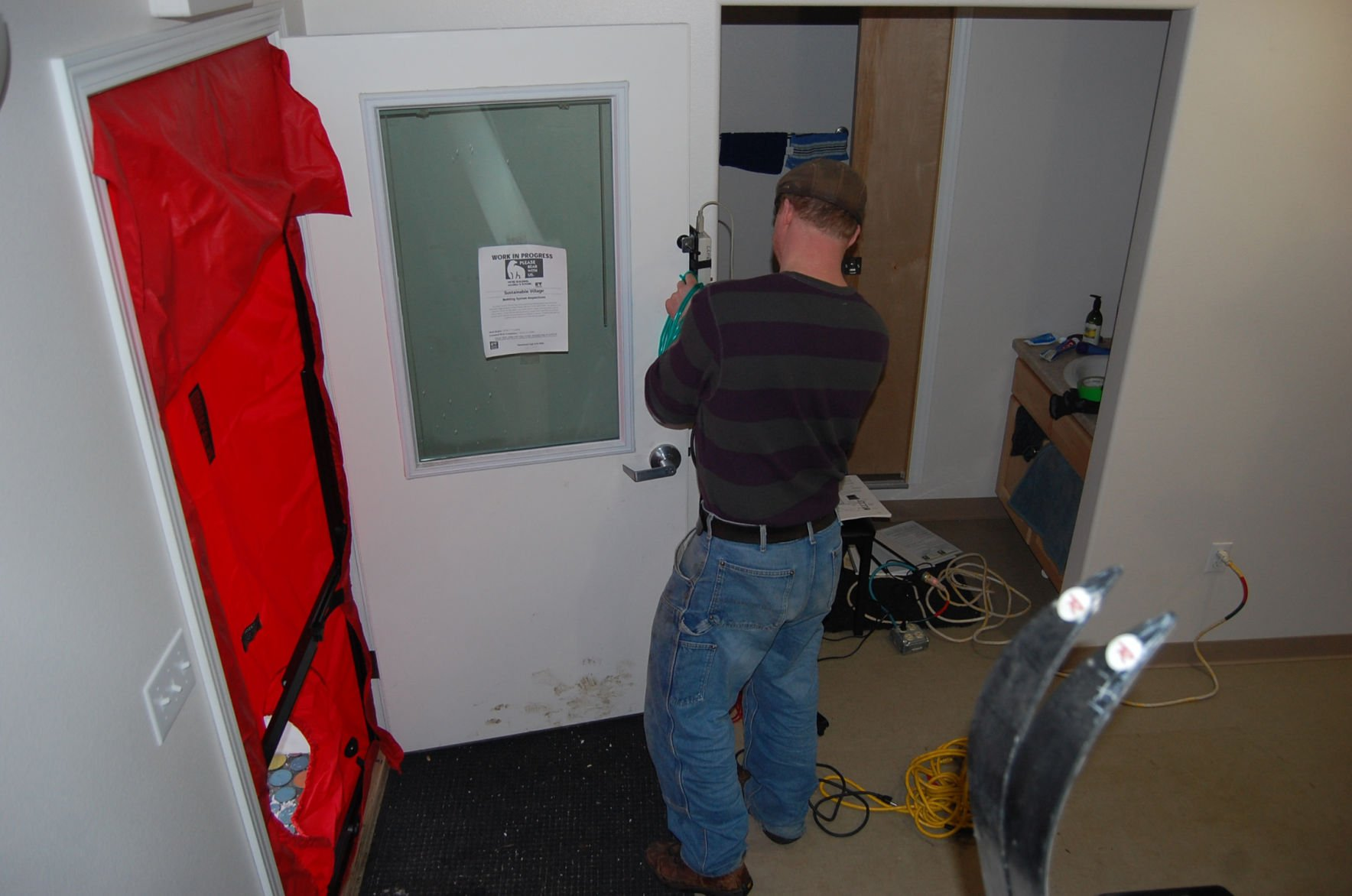 Blower door test & How to determine how airtight your home is   Ask A Builder ...