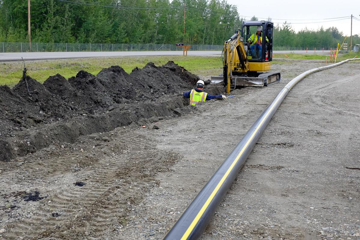 Natural Gas Pipeline Indoors