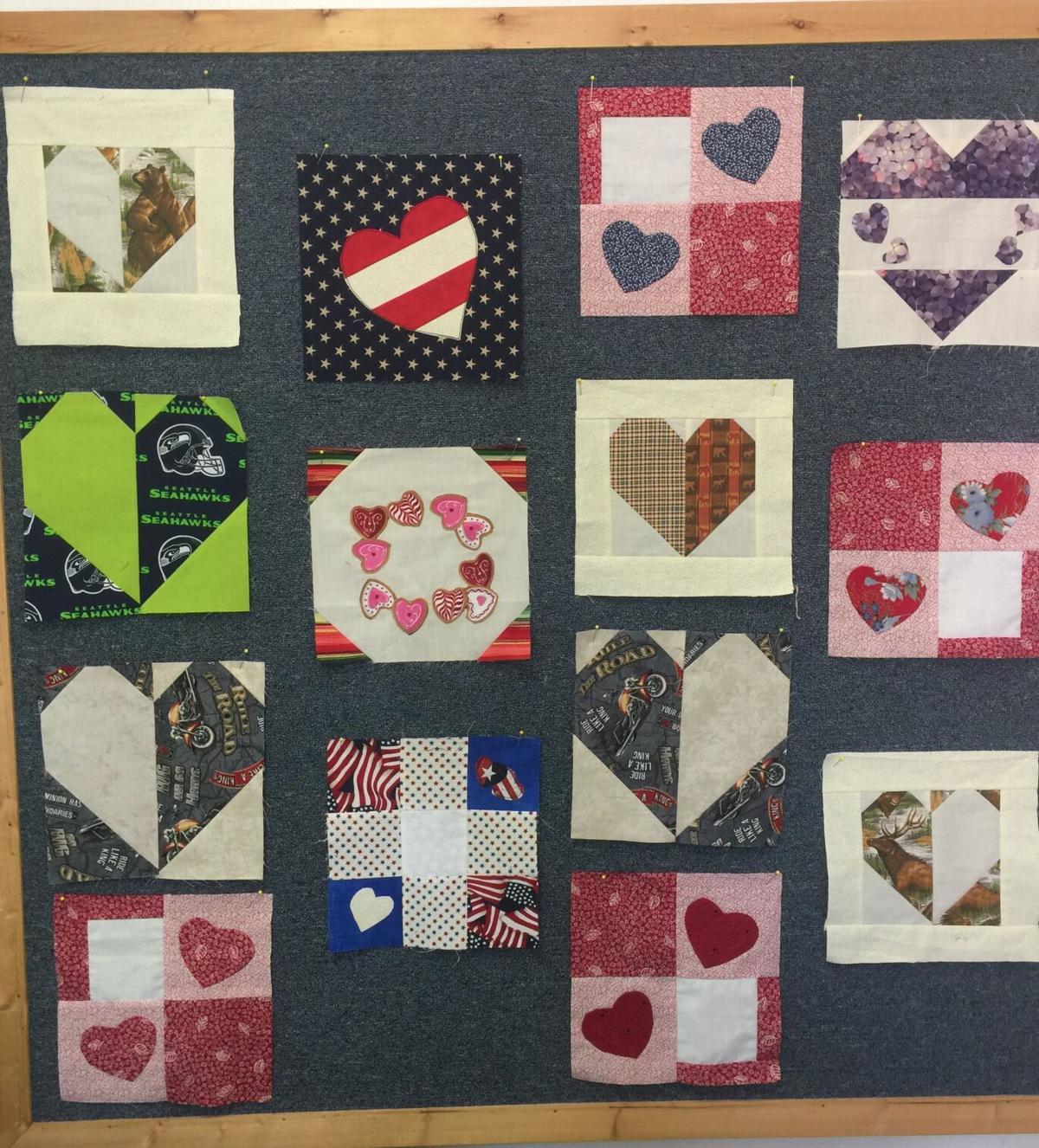 Sample quilt squares for Community Covid Quilt