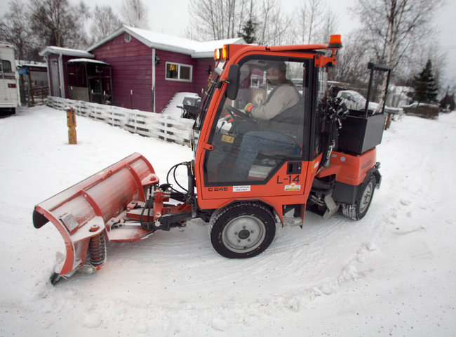 City's new snow plow stays on the sidewalk and turns on a dime