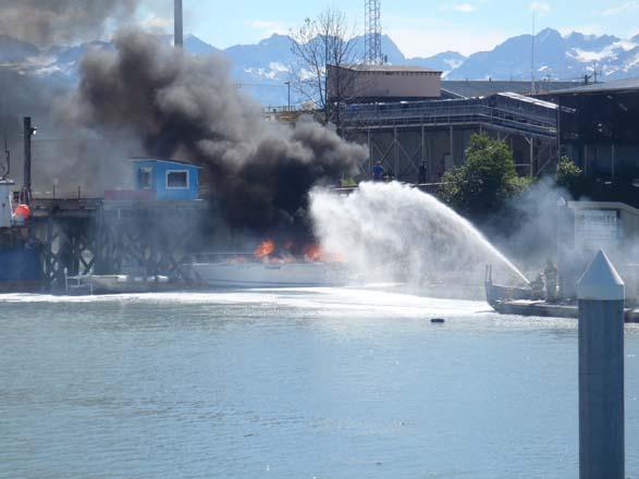 Valdez boat fire