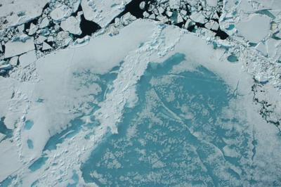 Arctic sea ice north of Alaska