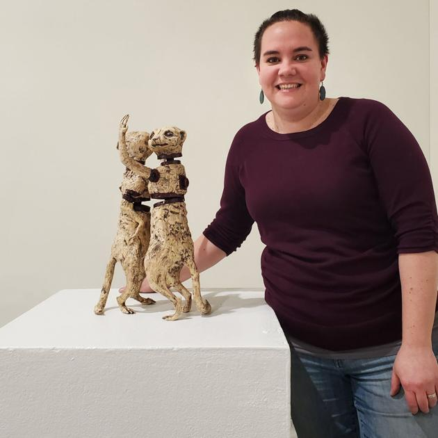 Ceramics art show opening at Wandering Bear Gallery