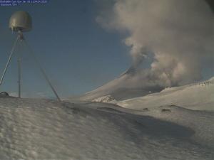 Alaska volcano erupts, sending ash miles into atmosphere