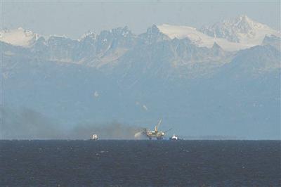 Offshore Gas Platform Fire