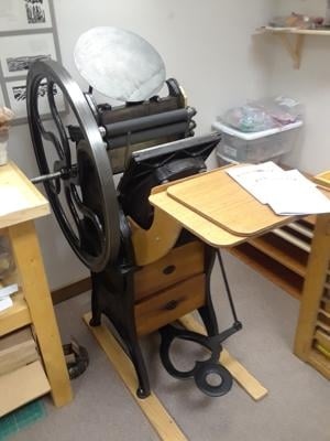 Mystery printing press leaves community wondering