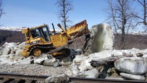 Northern half of Alaska Railroad remains offline due to ice damage
