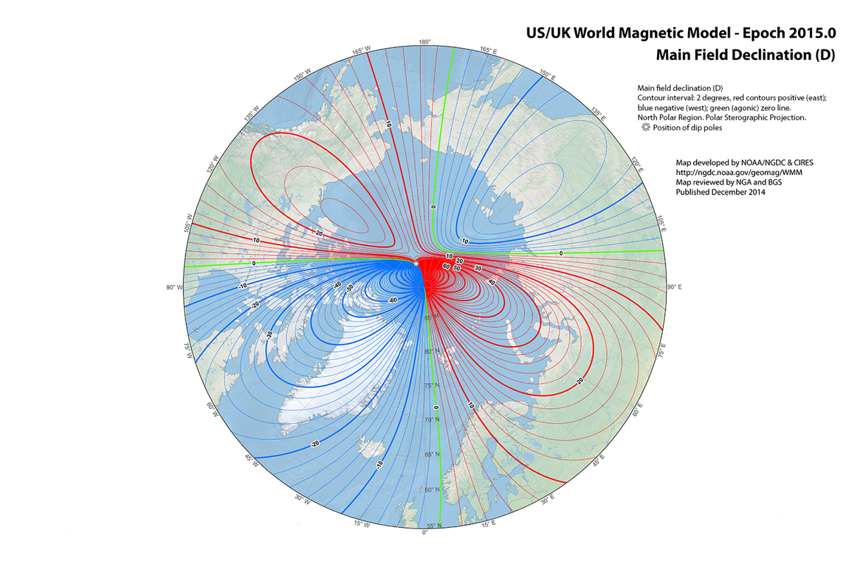 Drifting Pole Nudges Fairbanks Closer To Magnetic North Local - Magnetic declination map us