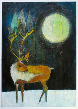 """""""Caribou Night"""" by Jennifer Moss"""