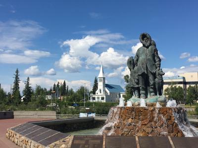 Golden Heart Plaza in Fairbanks