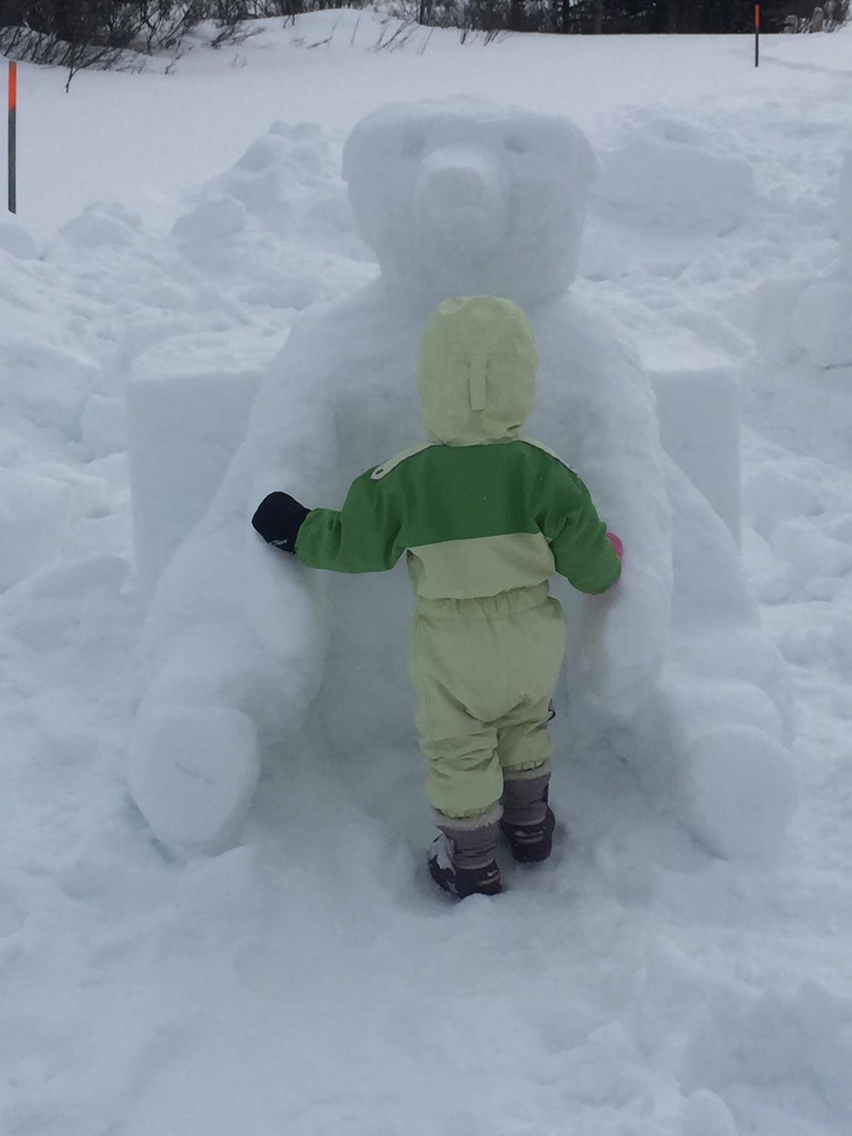 Snow sculpting contest