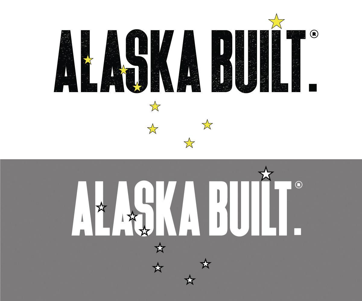 ALASKA BUILT. logos