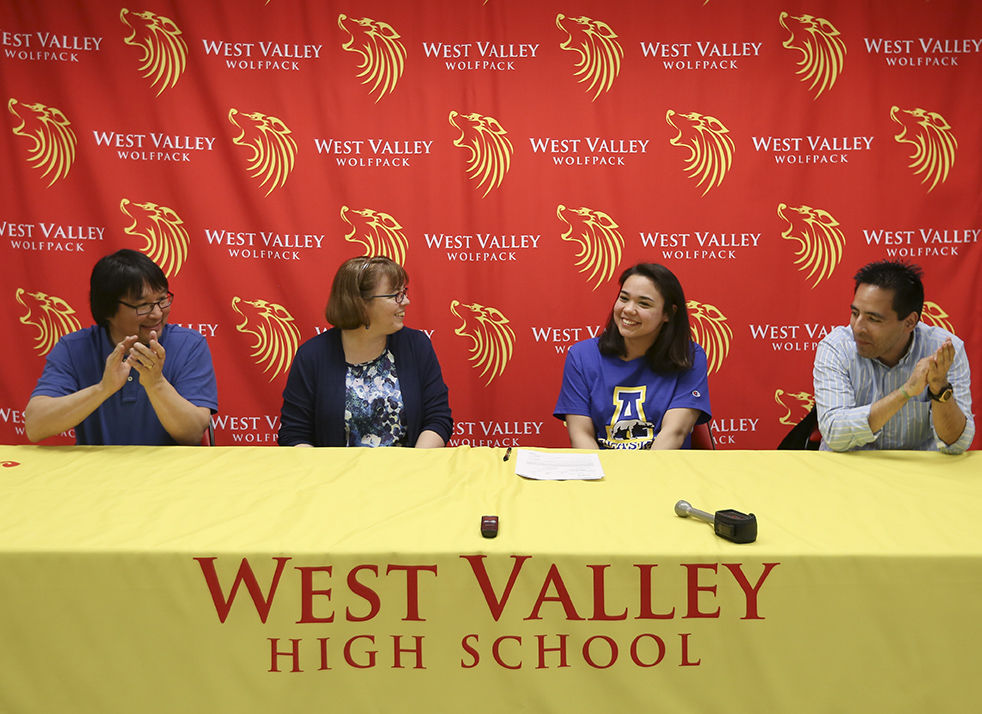 West valley 39 s abigail angaiak signs national letter of - West mesa high school swimming pool ...