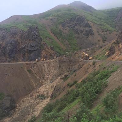 Denali National Park mudslide