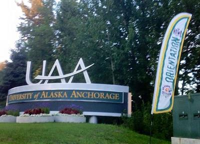 UAA entry sign