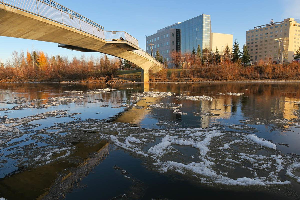 Chena River ice