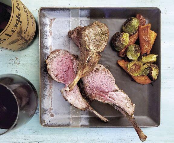 Garlic-Herbed Rack of Lamb