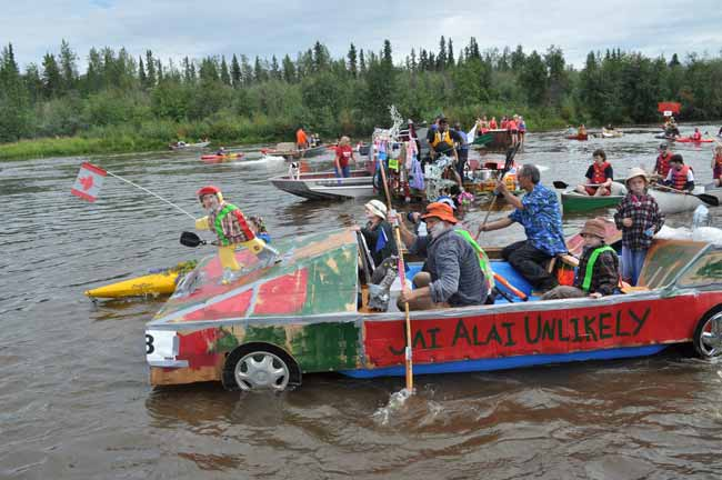 Duct Tape Derby On The Chena Red Green Checks Out