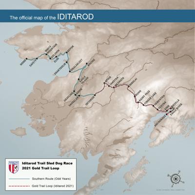 2021 Iditarod route