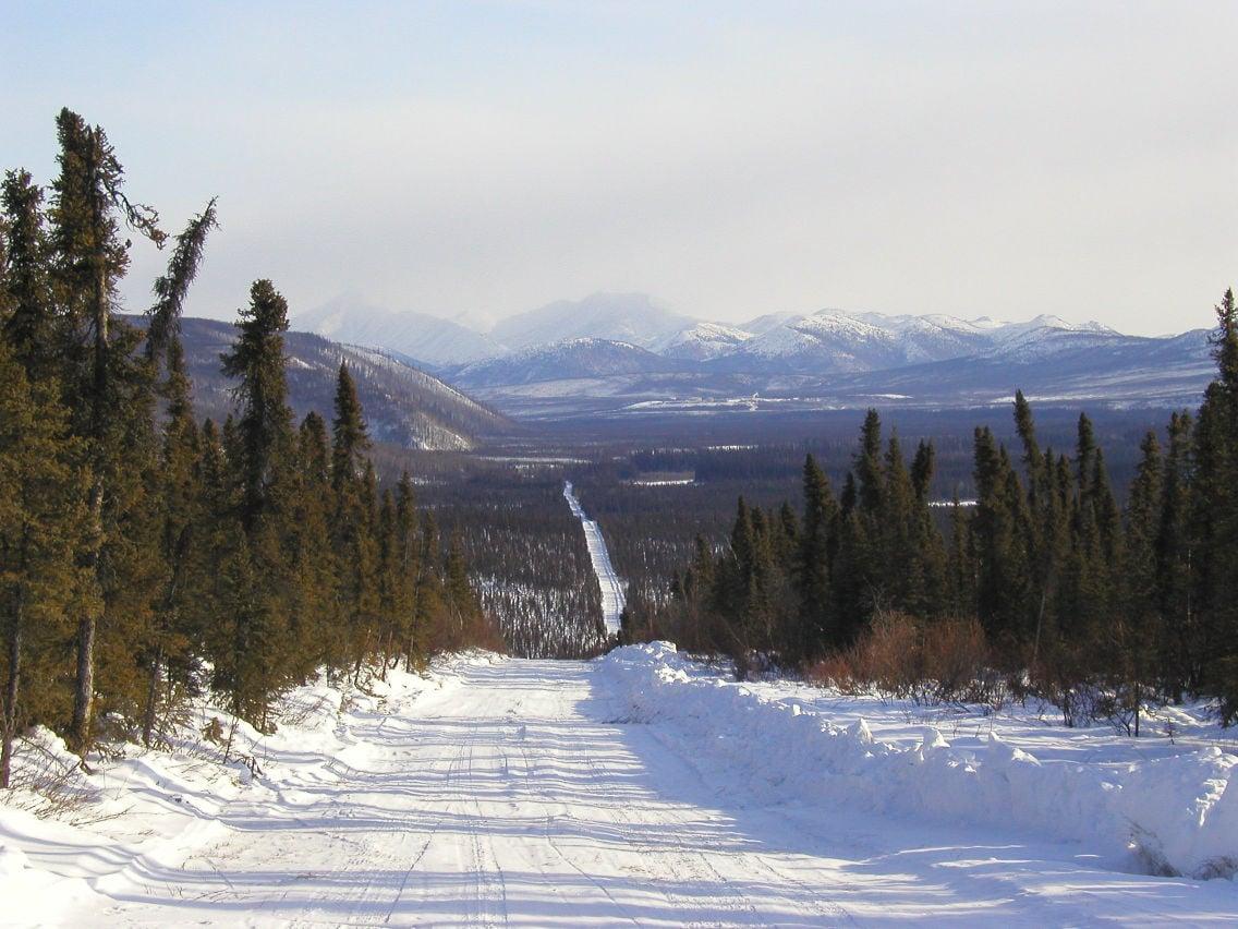Bettles winter road