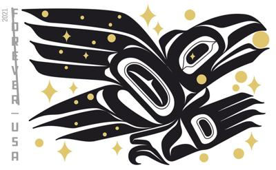 Raven stamp