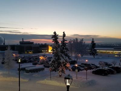 Cold sunrise in Fairbanks