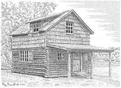 Ray Bonnell Sketch: The Old Soldotna Post Office