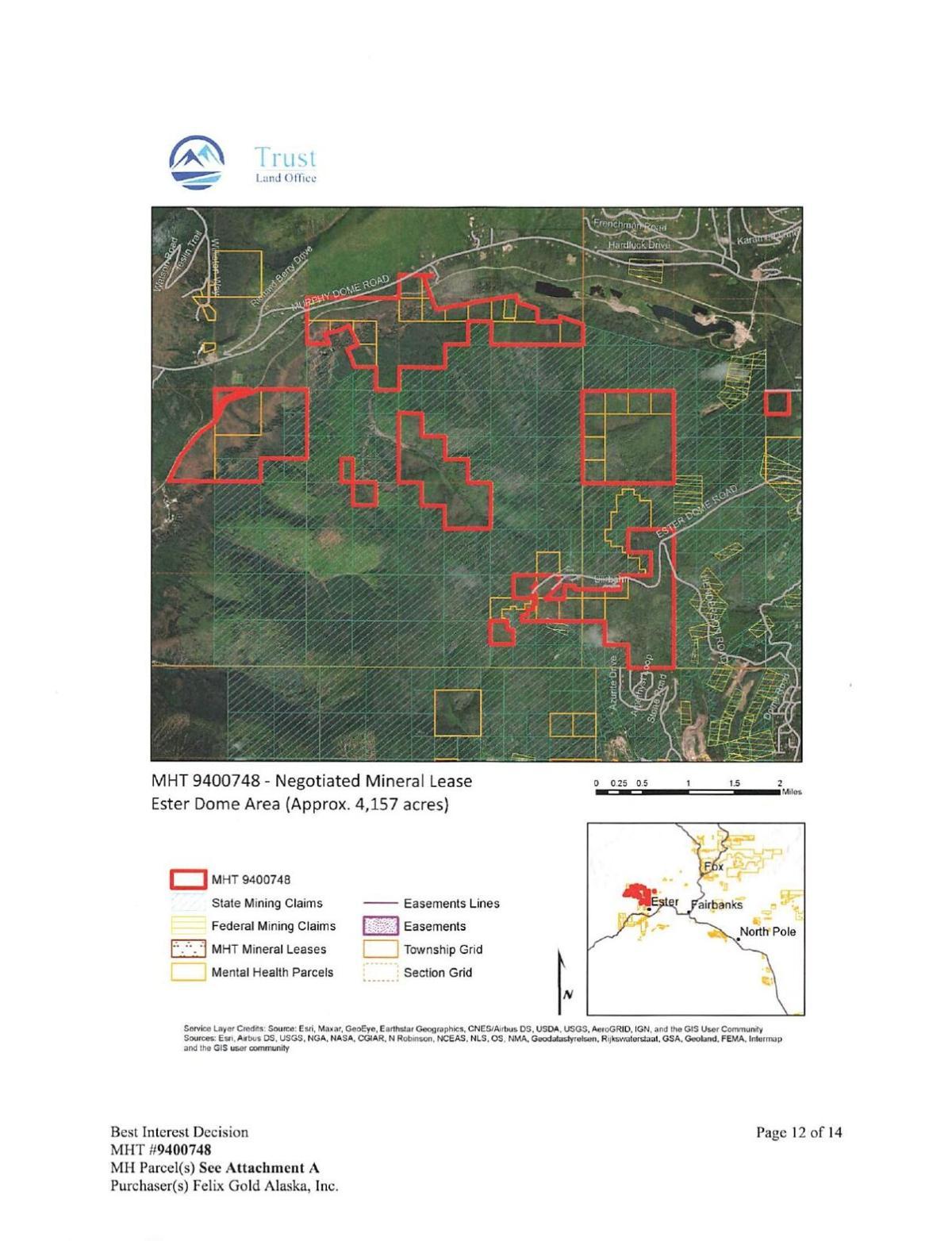 Proposed exploration sites
