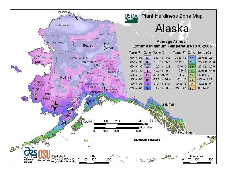 Alaska Garden Zones