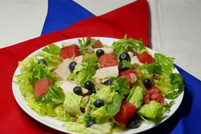 Red, White and Blue Celebration Salad