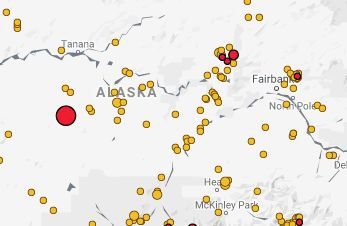 Earthquake near Tanana