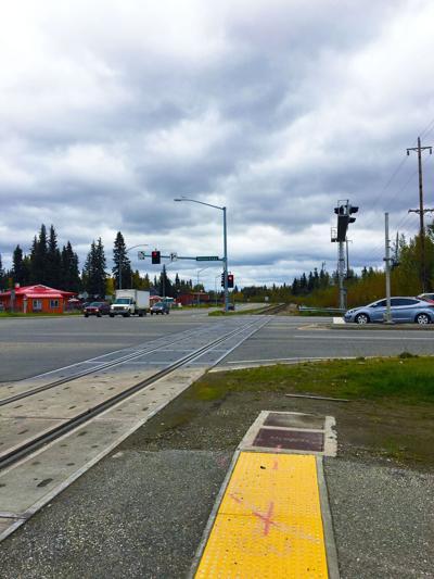 Steese Expressway railroad crossing