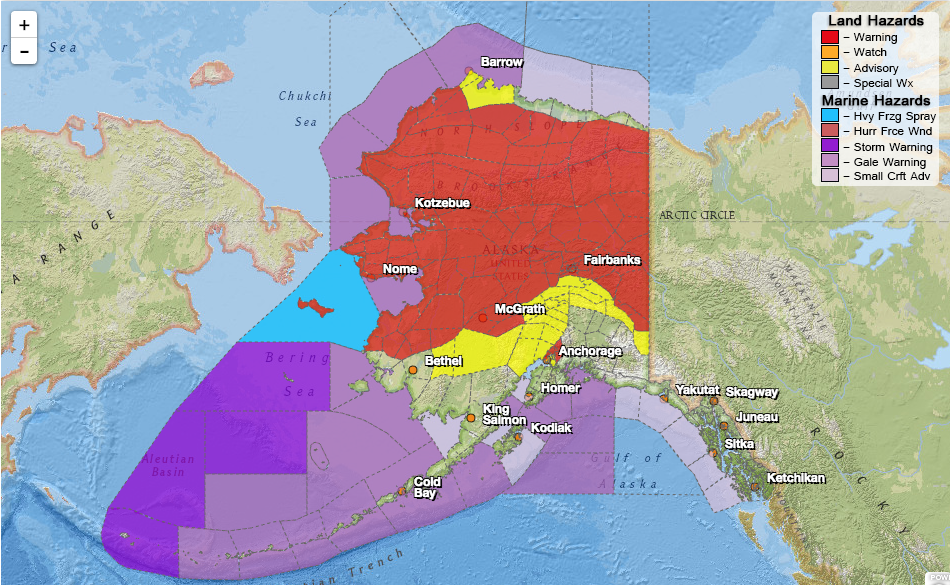 Strong winter storm spreading over much of mainland alaska - Interior community health center fairbanks ...