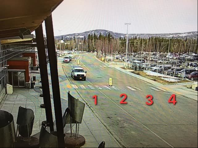 Fairbanks International Airport parking lanes