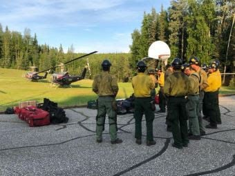 Caribou Creek fire