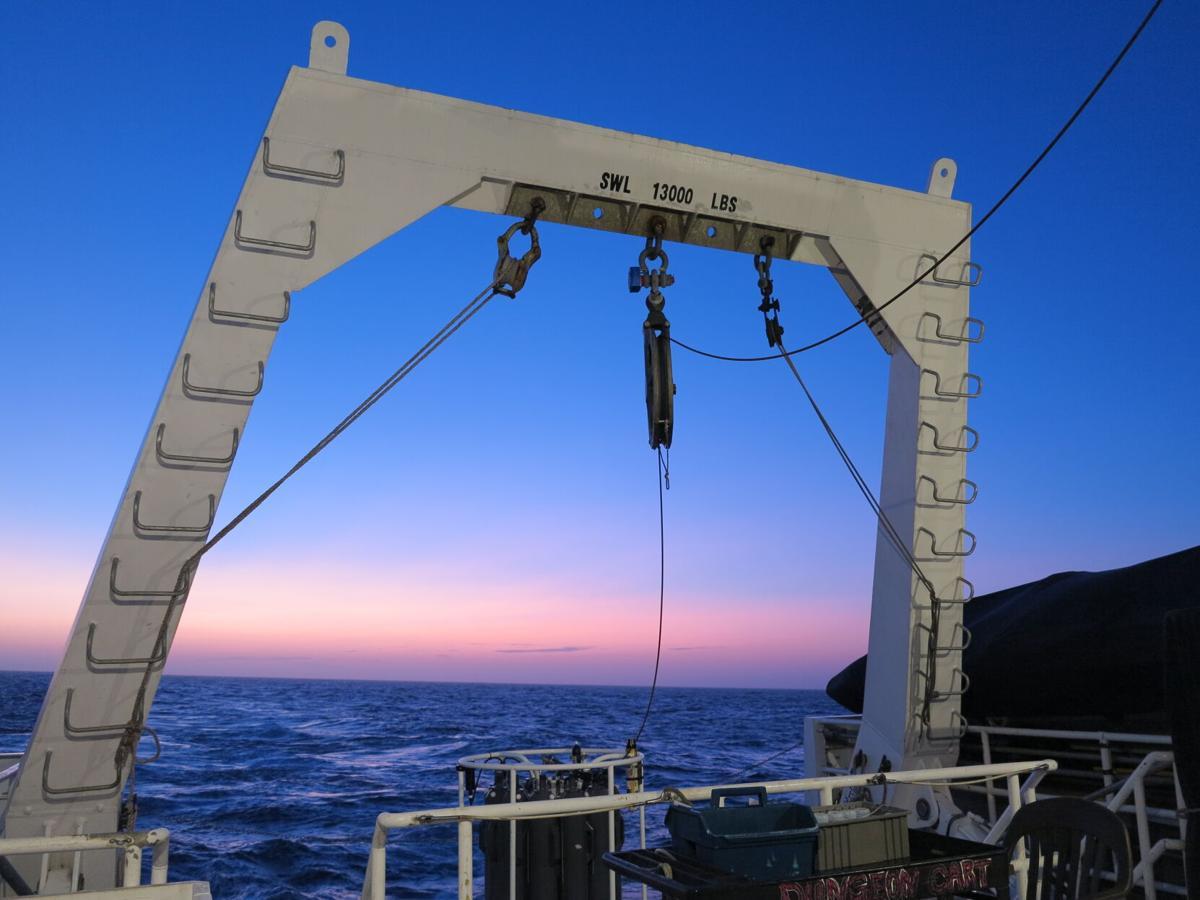 Shipboard measurements at sunset