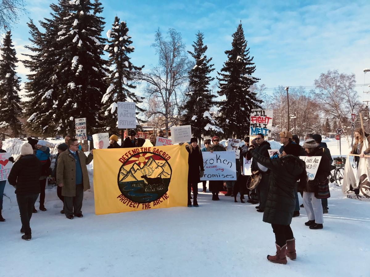 Anwr development protesters gather as interior department - Interior community health center fairbanks ...