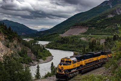 Alaska Railroad in Nenana Canyon