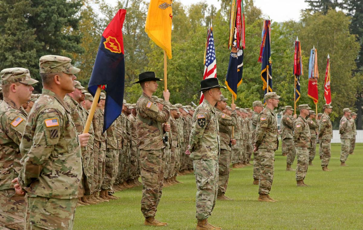 1st SBCT 25th ID Color Casing and Deployment Ceremony