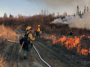 Grass fire spreads in Point MacKenzie area
