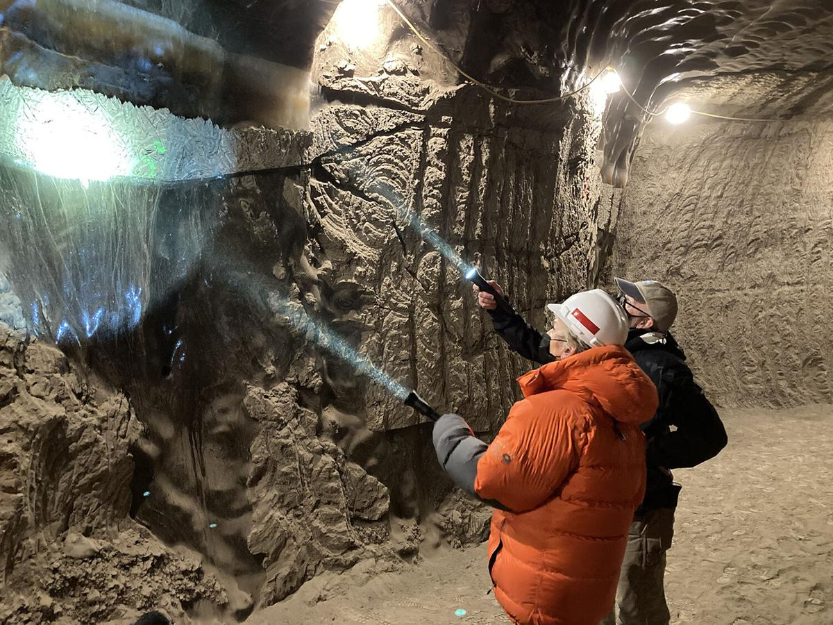 Ice formation in the permafrost tunnel