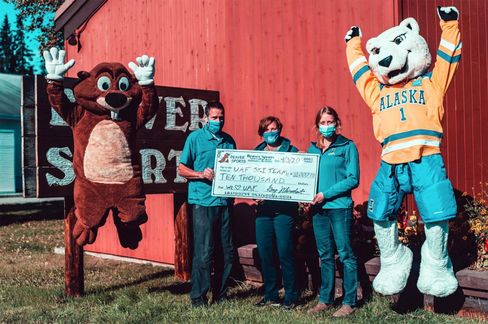Ski team donation